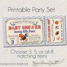 Little All-Star Deluxe Baby Shower Printable by parchmentpath