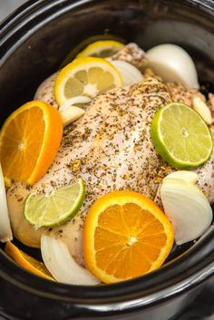 Learning how to roast a slow cooker whole chicken will save you time and money every week and provide delicious meals for days. This process is so quick and easy and very healthy too! Slow Cooker Chicken Whole, Crockpot Whole Chicken Recipes, Whole Turkey Recipes, Slow Cooker Chicken Thighs, Cooking Whole Chicken, Easy Chicken Dinner Recipes, Pulled Pork Recipes, Stuffed Whole Chicken, Crockpot Meals
