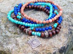 Royal Gypsy  Tribal Gypsy Beaded Stack Bracelets  by Angelof2, $26.50