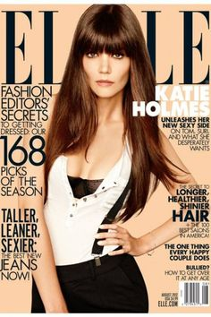 Hair - Katie Holmes for Elle August 2012