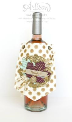Create a wine tag using the Build A Banner Simply Created Kit. ~ Sarah Sagert