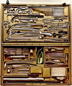 Great set of tools--Tool Box Antique Tools, Old Tools, Vintage Tools, Tool Organization, Tool Storage, Lumber Storage, Wooden Tool Boxes, Tool Board, Vintage Medical