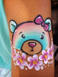 Teddy bear face painting