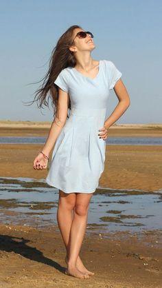 """Kleid / Jerseykleid """"PIA"""", Schnittmuster und Nähanleitung Gr. 158-46 - Nähanleitungen bei Makerist sofort runterladen"""