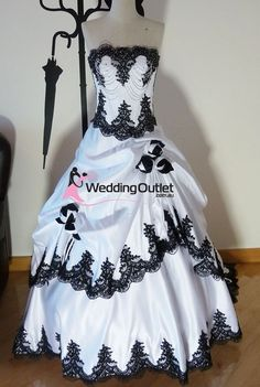 Scarlett Black and White wedding dress- I would want to remove the top ruffle thing.