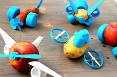 Open source 3D printable accessories turns vegetables and fruits into fun toys | 3D Printer News & 3D Printing News