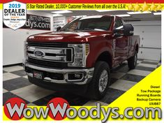 Wow! This 2019 Ford Super Duty F-350 XLT Regular Cab 4x4 is equipped with a 6.7L V8 engine. Top options include Tow Package, Running Boards, Backup Camera, and so much more! This Ford Super Duty F-350 SRW boasts a Intercooled Turbo Diesel V-8 6.7 L/406 engine powering this Automatic transmission. Fixed Rear Window, Transmission: TorqShift 6-Speed Automatic (6R140) -inc: SelectShift, TRANSMISSION: TORQSHIFT 6-SPEED AUTOMATIC -inc: (6R140), SelectShift. #wowwoodys #ford #fordtrucks #turbodiesel