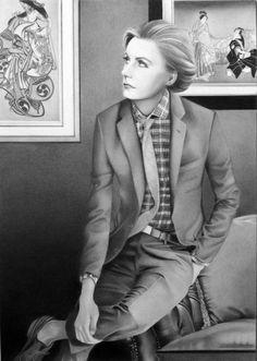 Greta Garbo con aspecto andrógino