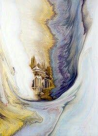 Painting on ebru by Garip Ay