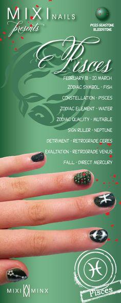 Zodiac Nails: Pisces by Mixi Minx