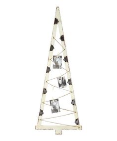 Look what I found on #zulily! Wood Christmas Tree Card Holder #zulilyfinds