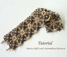 Beading tutorial instructions - beadweaving pattern beaded superduo seed bead jewelry - DOUBLE VISION beadwoven bracelet by PeyoteBeadArt on Etsy https://www.etsy.com/listing/170046013/beading-tutorial-instructions