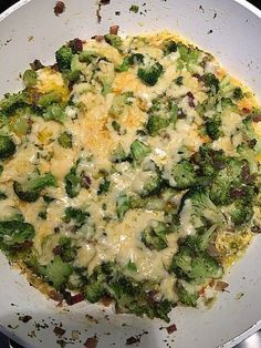 Brokkoli-Käse-Pfanne, Low-Carb