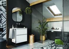 Meble łazienkowe/ bathroom furniture Look Collection Loft, Mirror, Bathroom, Furniture, Design, Home Decor, Washroom, Decoration Home, Room Decor