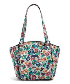 60e1b8e928 Cuban Stamps Glenna Tote  zulilyfinds Vera Bradley Patterns
