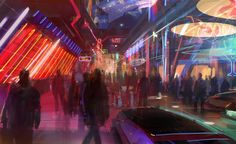 Drunk in the Cyberpunk City