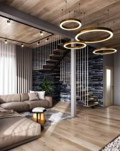 40 top 10 unique modern staircase design ideas for your dream house 1 Home Stairs Design, Modern House Design, Home Interior Design, Exterior Design, Interior And Exterior, Interior Decorating, Modern Houses, Stairs In Living Room, Living Rooms
