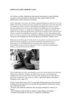 Curso Educador de Calle Curso a distancia España y Latinoamerica para educadoras sociales, asistentes sociales, tecnicos animacion sociocultural, integracion sociao, estudiantes
