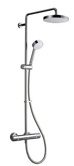 Mira Atom ERD Chrome Thermostatic Bar mixer shower with diverter Family Bathroom, Small Bathroom, Master Bathroom, Bathroom Ideas, Overhead Shower Head, Fixed Shower Head, Dream Shower, Mixer Shower, Steam Showers Bathroom