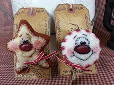 Navidad regalo pines/Ornies patrón 142 patrón por GingerberryCreek
