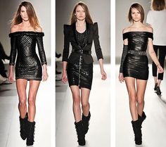 I want all three of these dresses and boots!!! So hot!