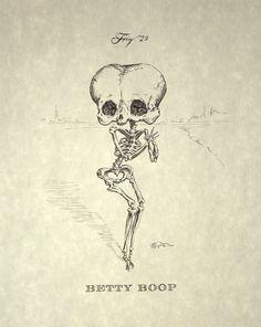 Betty Boop Skeleton