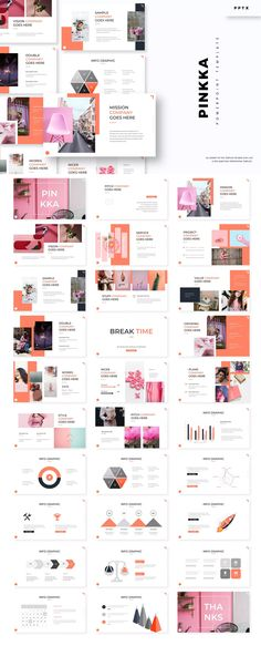 Pinkka - Powerpoint Template by aqrstudio on Envato Elements Cool Powerpoint, Powerpoint Template Free, Notes Template, Presentation Design Template, Powerpoint Presentation Templates, Design Templates, Resume Design, Page Design, Catalogue Layout
