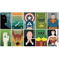 Vintage super hero poster montage - hardtofind.