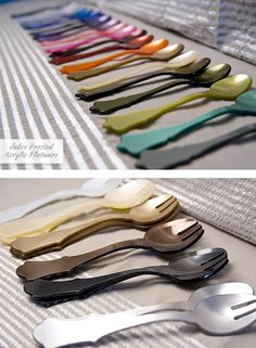 Sabre Frosted AcrylicFlatware - Home - Creature Comforts - daily inspiration, style, diy projects + freebies