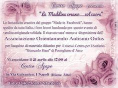 Associazione Orientamento Autismo Onlus #madeinfacebook #lemaddine #autismo