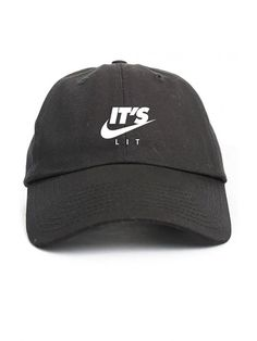 d3e3690106e It s Lit Swoosh Black Unstructured Dad Hat - C412NYNJS58
