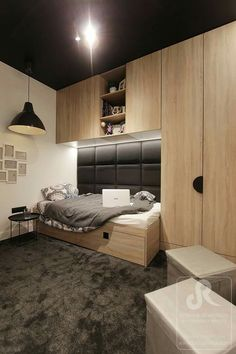 Awesome 34 Gorgeous Teenage Boys Bedroom Design Ideas That Will Amaze You. Boys Room Design, Kids Bedroom Designs, Boys Bedroom Decor, Modern Bedroom Design, Bedroom Ideas, Ideas Habitaciones, Teenage Room, Suites, Minimalist Bedroom