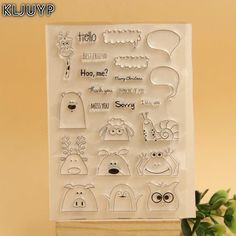 Kljuyp Hidden Animals Transparent Clear Silicone Stamp/Seal For Diy Scrapbooking/Photo Album Decorative Clear Stamp Sheets