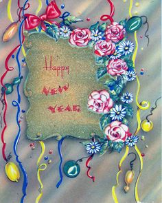Happy New Year!!! #vintage #New_Years #cards