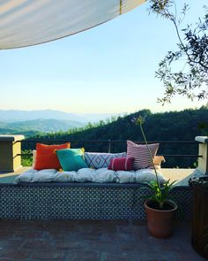 Creating all sorts of little moments on the terrace this week! It's been a whirlwind month but now summer has officially begun and this is where we will live all summer long taking in the views! #summersolstice #welcomesummer2018 #ourhouse #italy