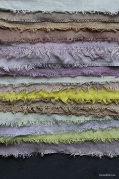 Homemade fruit and vegetable fabric dyes by Sania Pell
