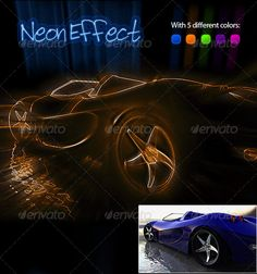 Neon Effect Photoshop Action