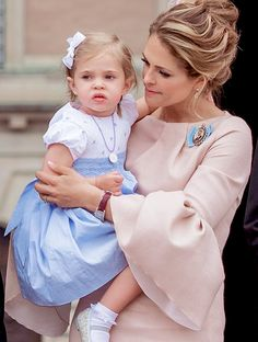 Princess Family: Princess Madeleine and Princess Leonore outside of the Royal Palace after the christening of Prince Oscar. || May 27th, 2016