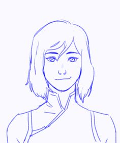 maveartworks:A scrapped loop animation of Korra shaking her new bob I did with TVpaintAnimation. nonetheless she looks adorable. <3