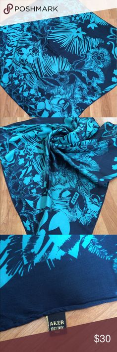 "100% Silk Scarf Aker Perfect condition, a few needle marks. About 35"" x 35 "". Please let me know if you have any question. Accessories Scarves & Wraps"