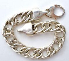 """Coar Sterling Silver Bracelet Wide Link Vintage Signed 7.25"""" Long 25 Grs Italian   Jewelry & Watches, Vintage & Antique Jewelry, Fine   eBay!"""