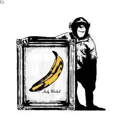 Dolk or Banksy street art Street Art Banksy, Banksy Graffiti, Bansky, Pop Art, Urbane Kunst, Monkey Art, Art Graphique, Street Artists, Urban Art