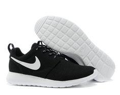 hot sale online 62a65 81a32 Nike Roshe Run Womens Black White Mesh shoes Cheap Nike, Nike Shoes Cheap,  Nike