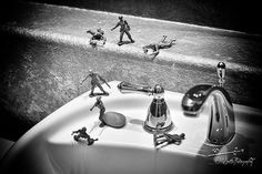 Vintage Toy Soldiers Photograph  Urban Modern by MScottPhotography