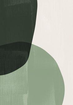 Dark green modern art prints for mid century. Minimalist art - Dark green modern art prints for mid century. Abstract Shapes, Geometric Art, Painting Abstract, Painting Art, Painting People, Painting Walls, Painting Wallpaper, Modern Art Prints, Modern Wall Art