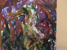 """""""#Crazy #Bird"""" #painting by #Ann #Lutz (10x10) $130.00 (+shipping/handling) @ Trends & Traditions. Contact John: picfram@aol.com."""