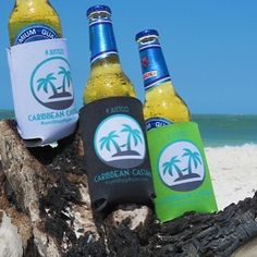 New Caribbean Castaway koozies available RumShopRyan.com! #caribbean #vacation #beer #islands #boats #beachday