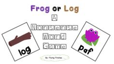 Nonsense Word Practice Game- Frog or Log! Enter for your chance to win 1 of 5. A Nonsense Word Game- Frog or Log  (5 pages) from Flying Firsties on TeachersNotebook.com (Ends on on 03-19-2017) This is a game you can use in small group or stations to practice their Nonsense Word Fluency..