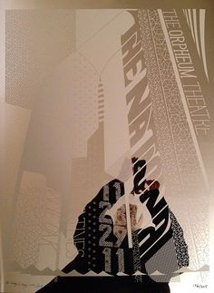 bantjes again: The National poster, white ink on mirrored surface.