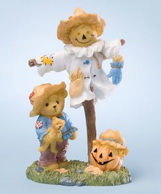 Look what I found on #zulily! Scarecrow Bear Figurine #zulilyfinds